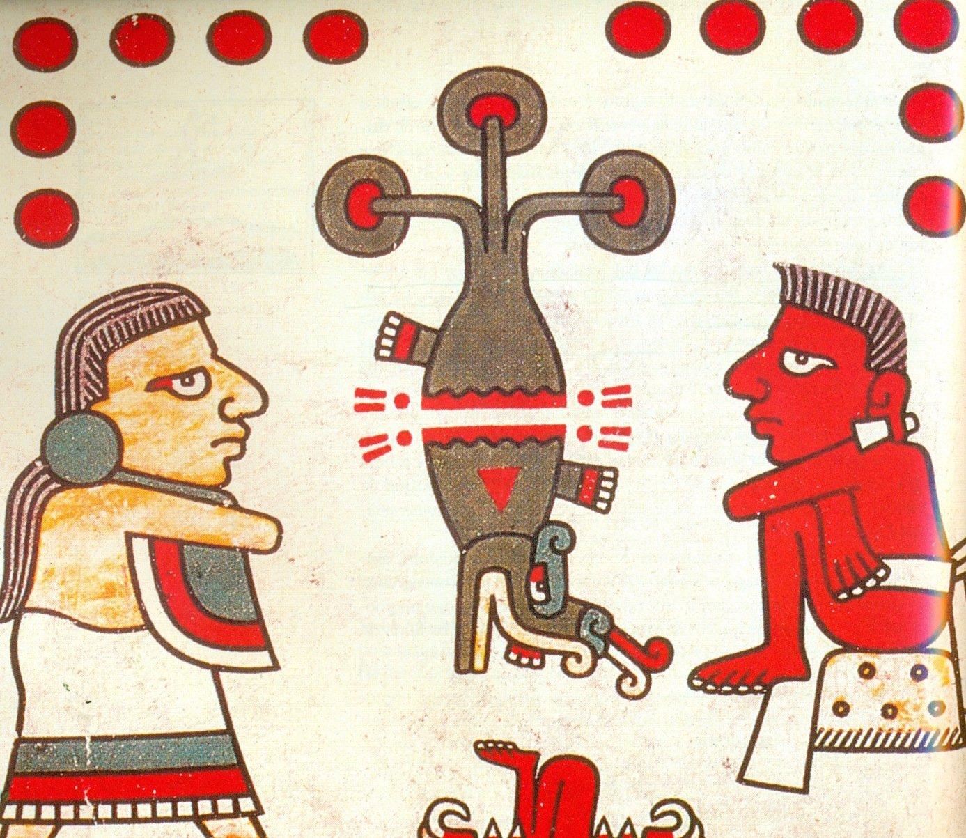 Raffigurazione dell'albero sacro di Tamoanchan nella lamina XXXVIII del Codice Laud (da De La Garza, 2012, p. 78, fig. 13)