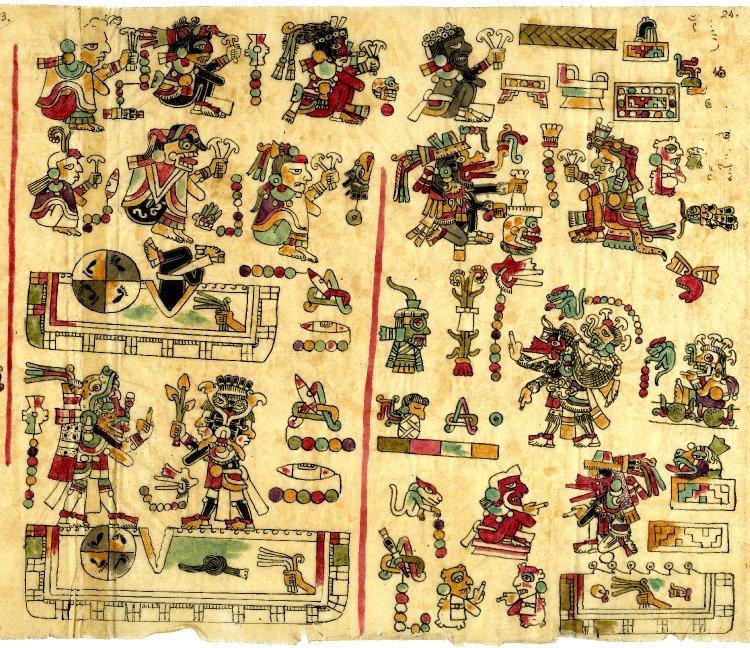 Pagina 24 del Codice Vindobonensis. Biblioteca Nazionale di Vienna