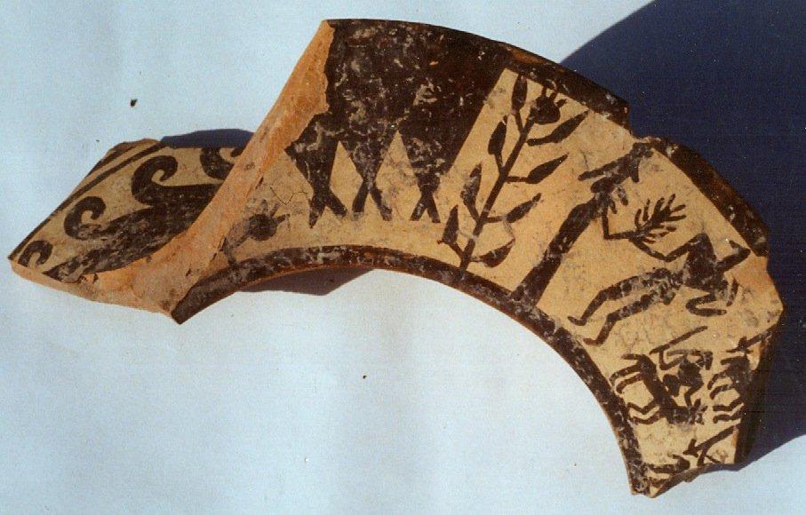 Frammento di ceramica daunia da un ipogeo di Herdonia, Museo Civico di S. Ferdinando di Puglia (foto Laura Leone)