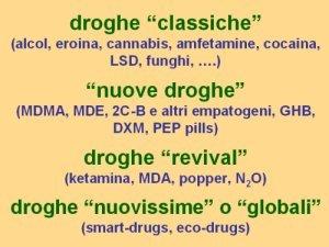 Sistematica delle droghe drugs 39 systematics giorgio samorini network - I diversi tipi di droga ...