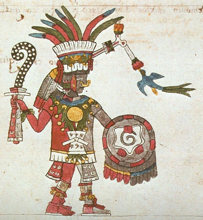 Raffigurazione di Patécatl nel Codice Magliabecchi (53r)