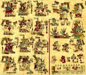 Pagina 25 del Codice Vindobonensis, dedicata al pulque