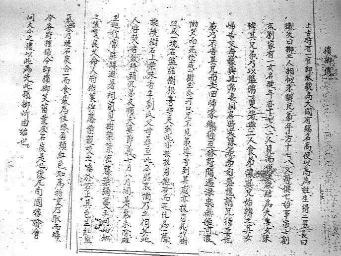 """La pagina del Līnh Nam chích quái liêt truyên del 1695, dove è riportata la """"Storia dell'albero della palma dell'areca"""" (da Hiên, 2006, fig. 13, p. 511)"""