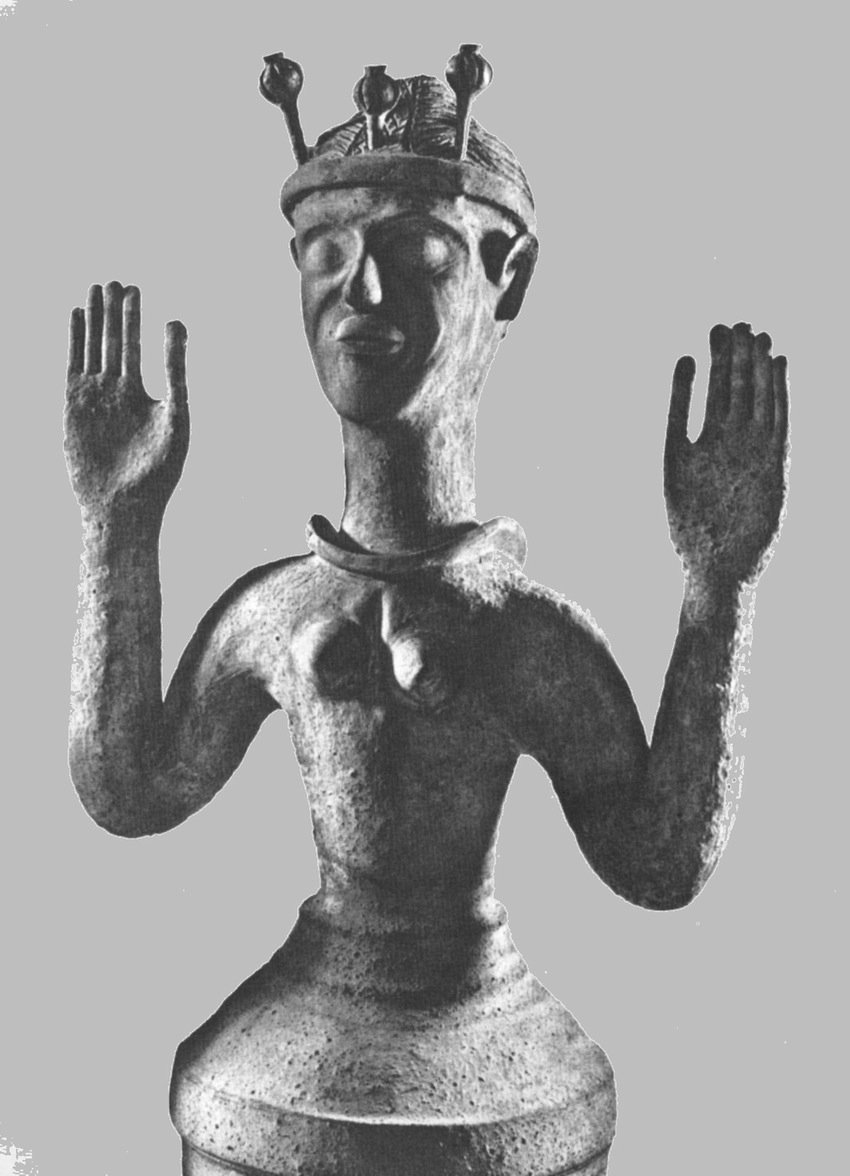 """La """"Dea dei papaveri"""" di Gazì, Creta, 1500 a.C."""