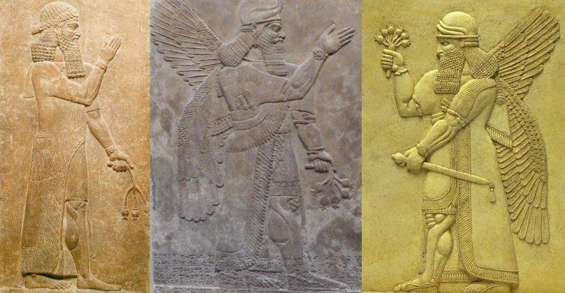 """Geni"" rappresentati nei bassorilievi assiri"