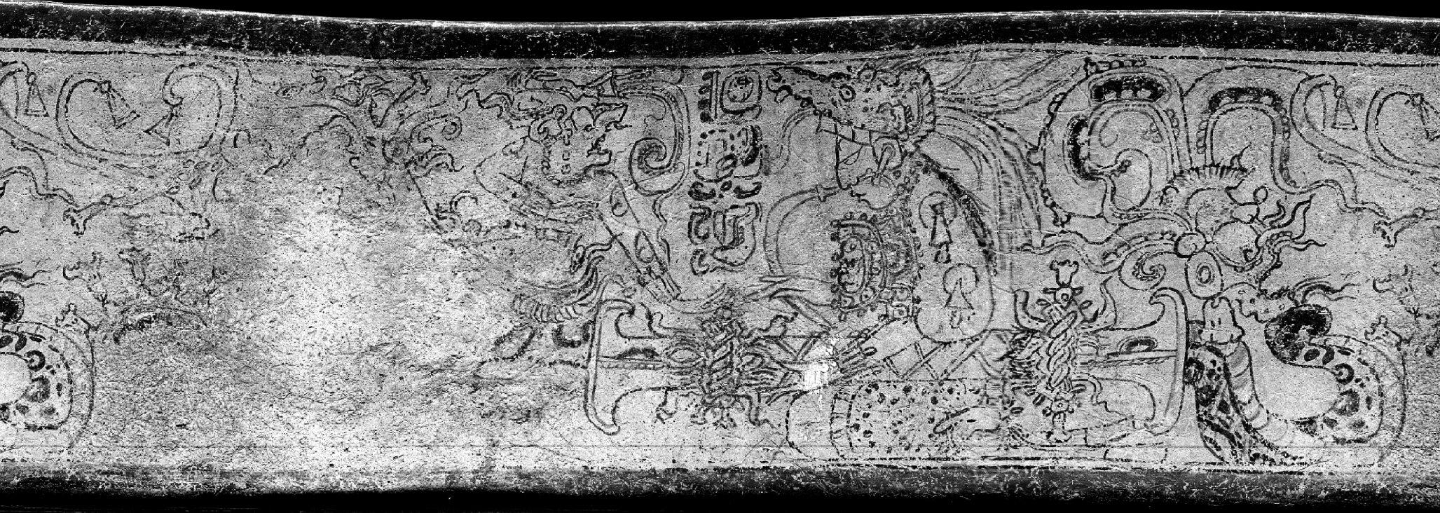 Vaso maya del periodo Classico con raffigurazione di specie di convolvulaceae (in Quintanilla & Eastmond, 2012, fig. 2, p. 274)