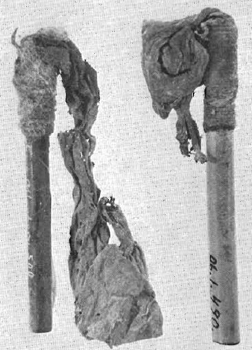 Siringhe per clisteri ritrovate in Niño Korin (da Wassén, 1972, fig. 3, p. 64)