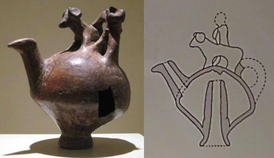 Ceramica ittita degli inizi del II millennio a.C. interpretato come possibile condensatore e raccoglitore di vapori alcolici (da Bartholomew, 2015)