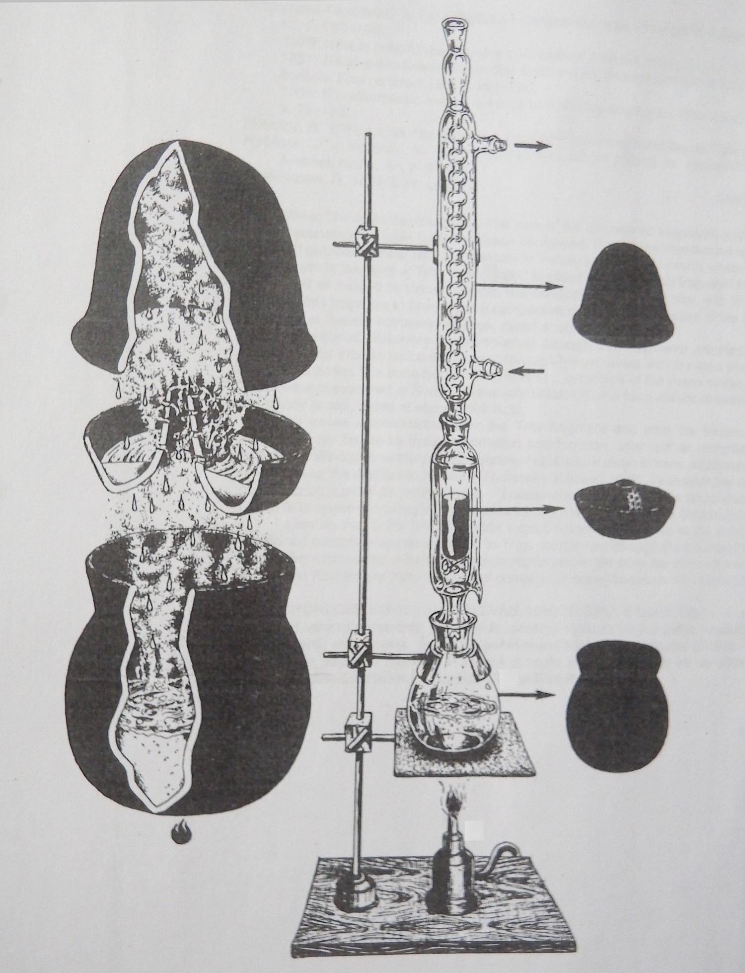Analogia fra la ricostruzione del separatore di Troia V del 2000 a.C. con un moderno separatore a riflusso (da: Ryšánek, 1993, fig. 6, p. 13)
