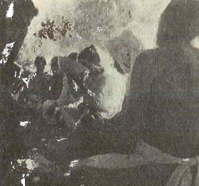 Una rarissima foto del rito del jurema fra i Pancaru degli anni '30 (da Estevão De Oliveira, 1938-1941)