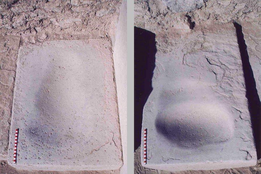 Pietre con depressioni per la macina dei chicchi di mais per la preparazione della chicha. Sito di Marayniyoq, Peru, cultura Wari, 780-905 d.C. (da Valdez, 2010, figg. 3,4, p. 27)